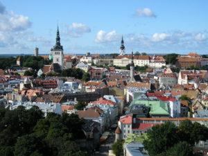 Forssman Übersetzer Estland Blick vom Hotel Viru auf den Tallinner Domberg